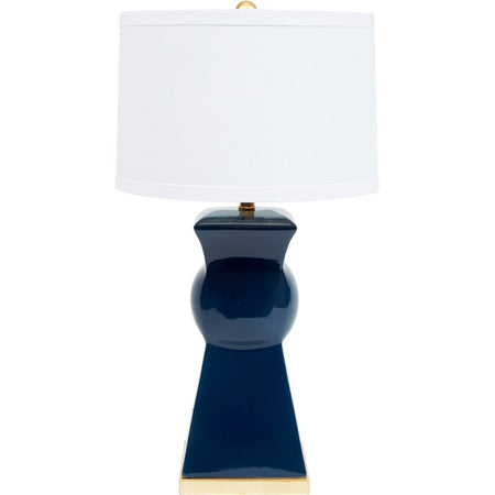 Perrin Navy Blue Ceramic Lamp