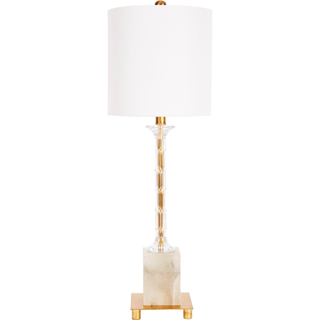 Amelia Alabaster and Acrylic Table Lamp