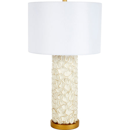 White Swirl Table Lamp