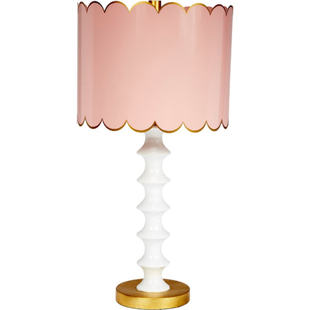 Eloise Blush and Gloss White Table Lamp