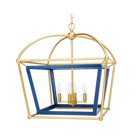 Draper Navy Blue and Gold Lantern