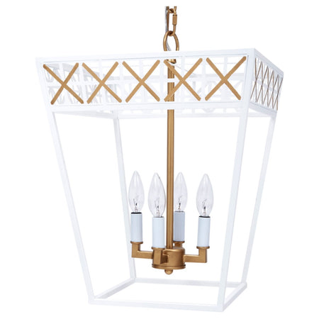 Caitlyn Gloss White and Gold Lantern