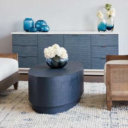 Mila Oval Coffee Table (Navy)