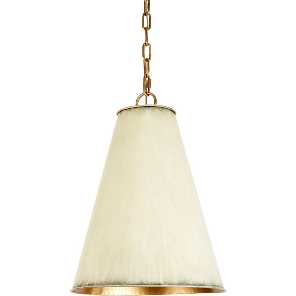 Small Nicole Cream Metal Shade Pendant