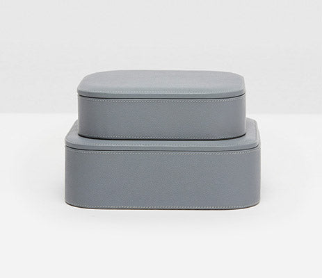 Dozza Dark Gray Large Accent Boxes, Leather small