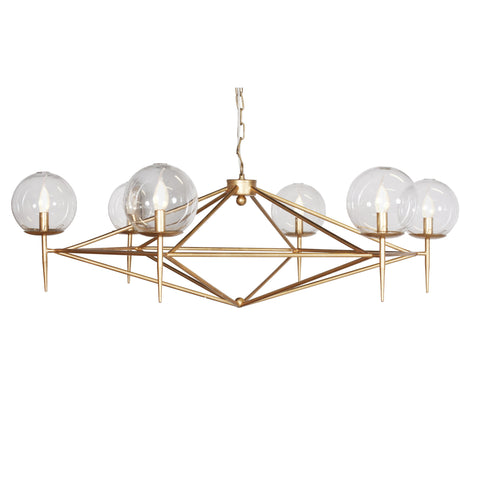 Rowan Gold Leaf Chandelier