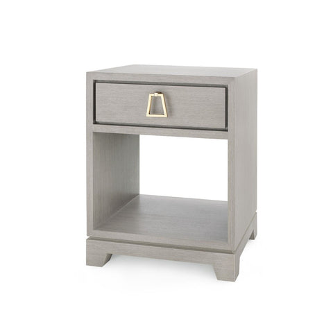 Stanford 1 Drawer Side Table (Light Gray)