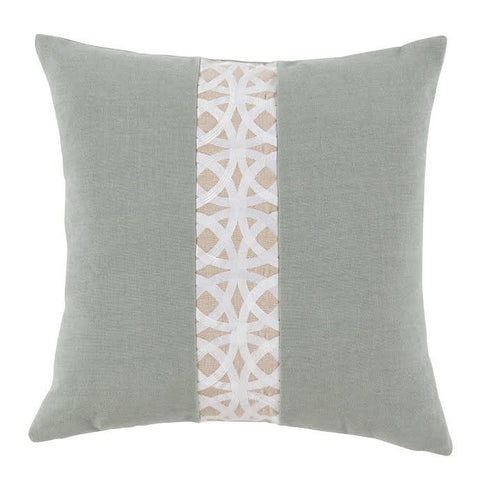 Linen Pillow with Stockholm Embroidery Band