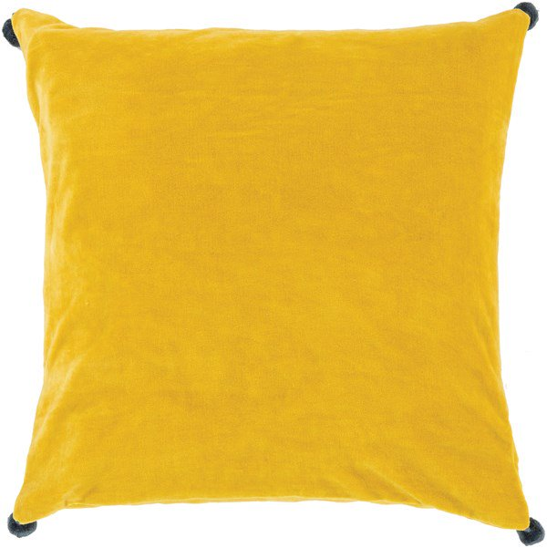 Bright Yellow Velvet Poms