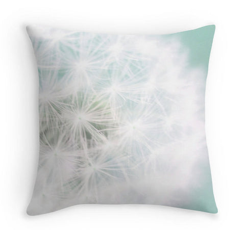 Decorative Dandelion Throw Pillow Cover