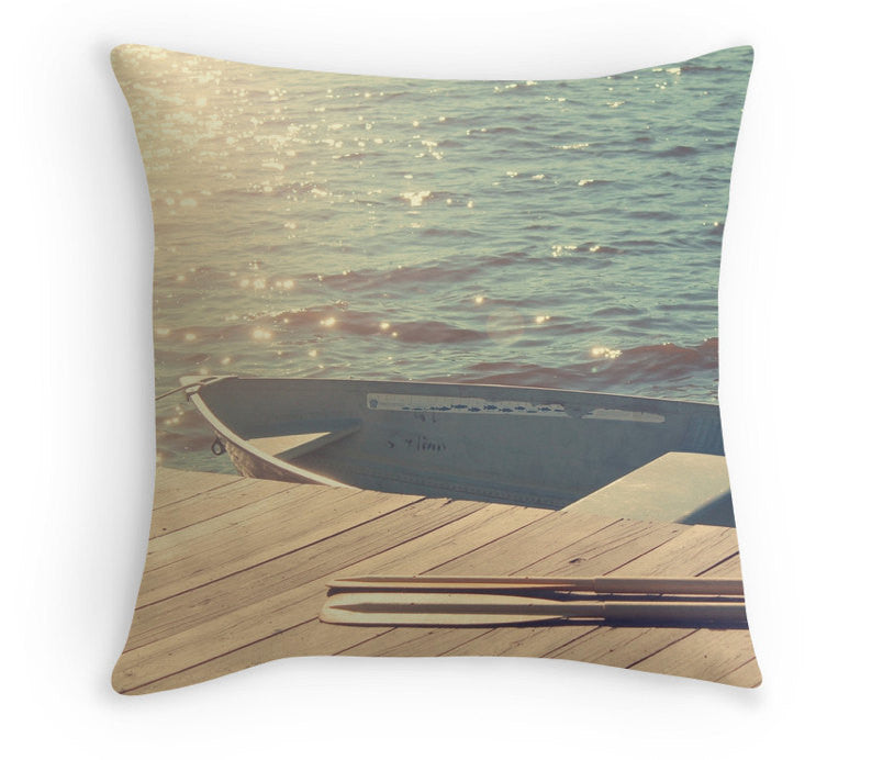 Lake Pillow, Cushion Cover, Decorative Pillow, 40cm Pillow, Lake House Decor, Water, Rustic, 16x16, 18x18, 20x20
