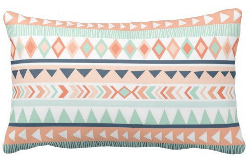 mint lumbar pillow
