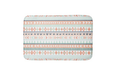 tribal bath mat