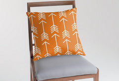 orange nursery pillow