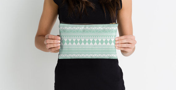 Tribal zipper pouch