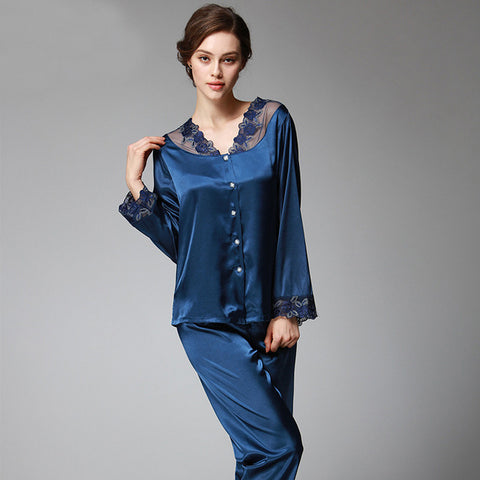 satin-silk pajama sets