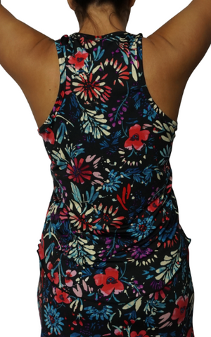Black Spring Bouquet Fitness Tank II