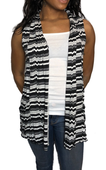 Chevron Black White Vest