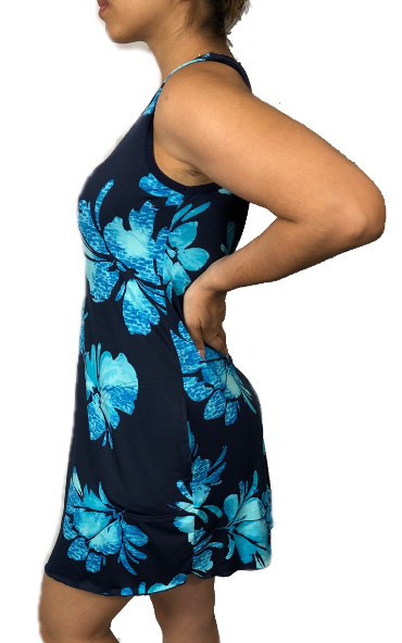 Blue Kona Sporty Tank Dress w/ Pockets