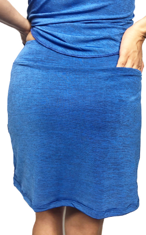 Heather Blue Fitness Skort