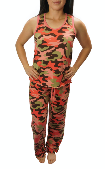 Blush Camo Cozy Pajama Pants Set