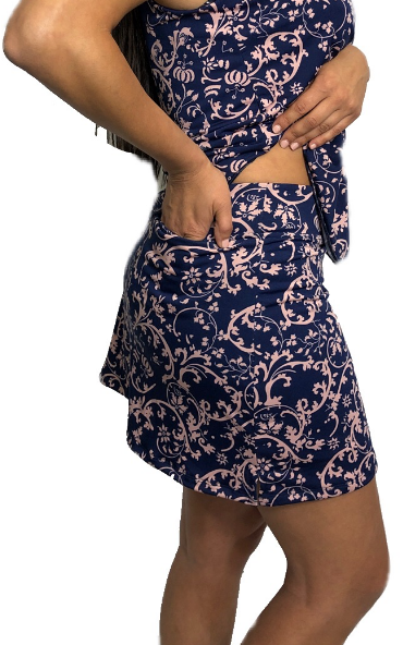 Blush Navy Vine Skort