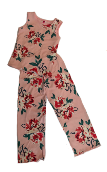 Blush Bouquet Kids Pajama Pants Set