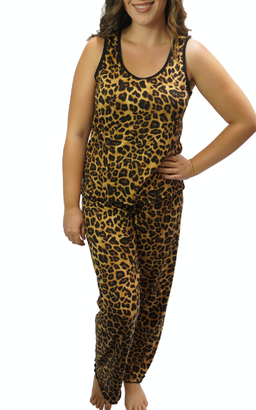 Cozy Leopard Pajama Pants Set