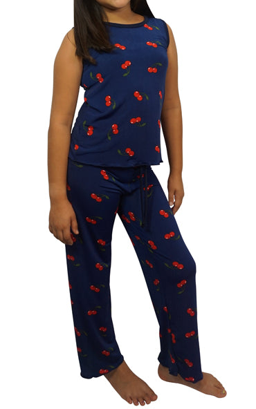 Cherry Bomb Kids Slinky Pajama Pants Set
