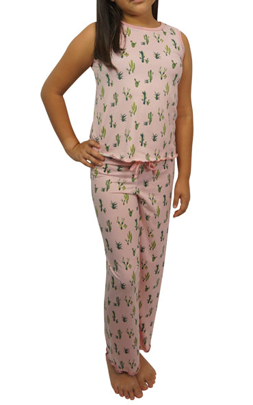 Pink Cactus Kids Cozy Pajama Pants Set