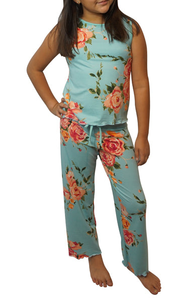 Teal Rose Kids Cozy Pajama Pants