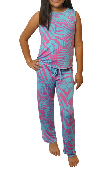 Sky Pink Kids Slinky Pajama Pants Set