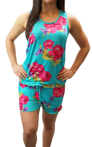 Enchanted Teal Slinky Cooling Pajama Boxer Sets