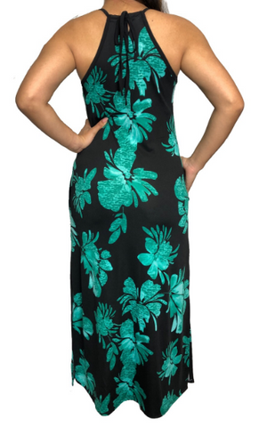 Green Kona Maxi Swimsuit Cover Up w/Pockets