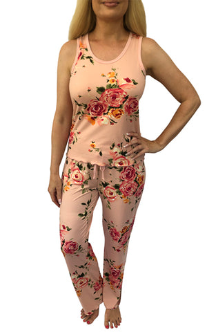 Coral Rose Comfy Pajama Pants Set