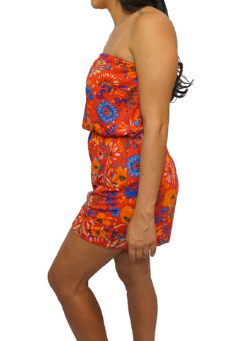 Coral Meadow Romper