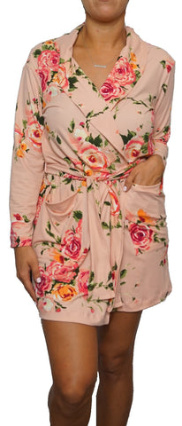 Coral Rose Cozy Robe