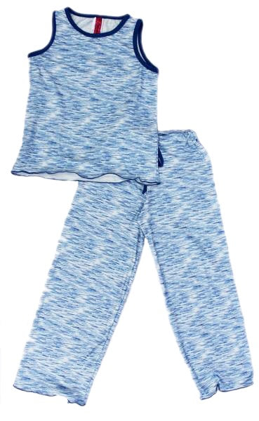 Blue Cozy Kids Pajama Pants Set