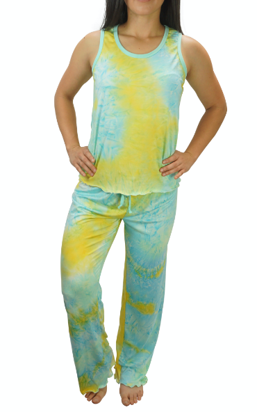 Mint Julep Tye Dye Cozy Pajama Pants Set