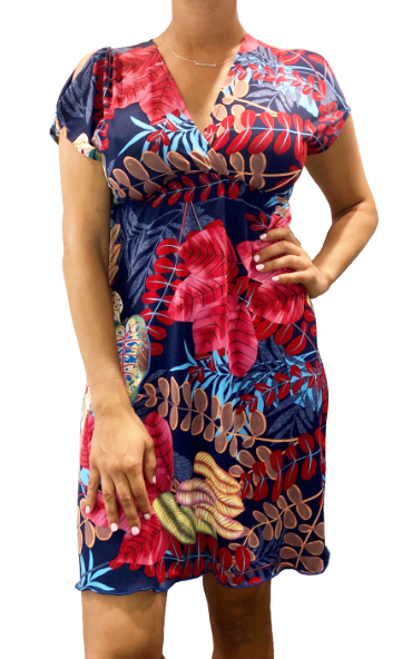 Navy Tropic Athena Dress