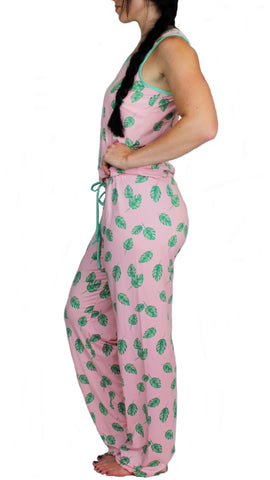 Pink Tropics Cozy Pajama Pants Set