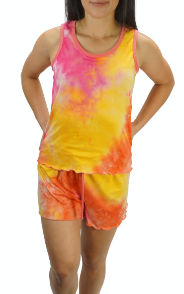 Popsicle Cream Tye Dye Cozy Pajama Boxer Set