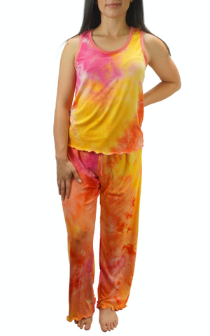 Popsicle Cream Tye Dye Cozy Pajama Pants Set