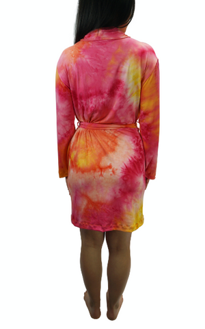 Popsicle Cream Tye Dye Cozy Robe II