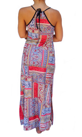 Red Handkerchief Cami Maxi Dress