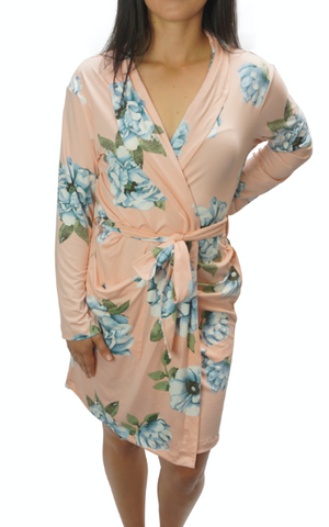 Rose Blue Cozy Robe II