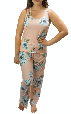 Rose Blue Cozy Pajama Pants Set