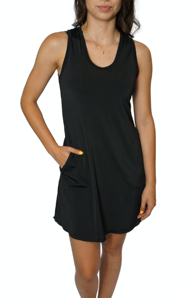 NOIR Sporty Tank Dress w/ Pockets