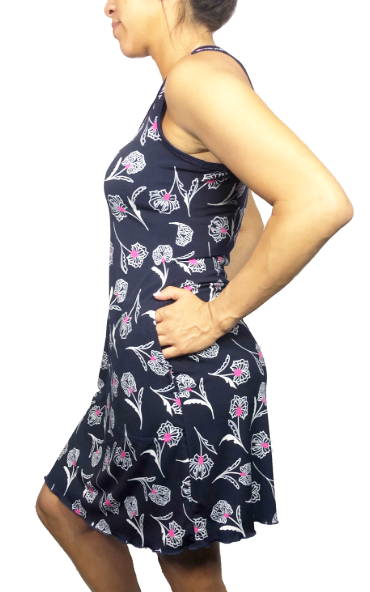 Touch of Pink (Navy) Sporty Tank Dress w/ Pockets