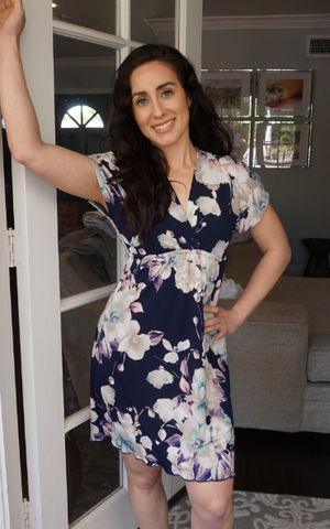 Blooming Navy Athena Dress
